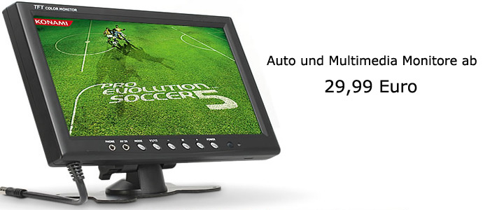 Auto und Multimedia-Monitore